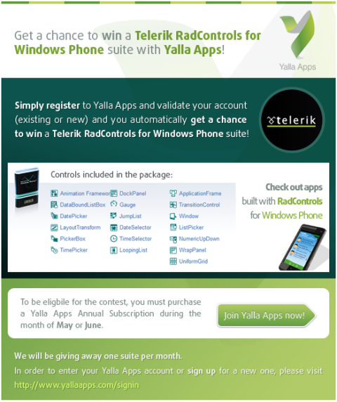 Win with Telerik and YallaApps